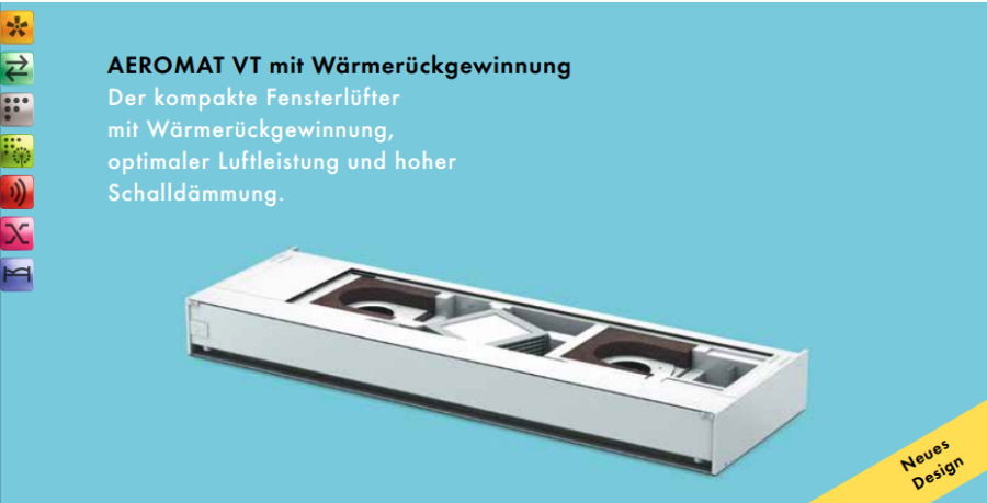 akf fenster aeromat vt mit w rmer ckgewinnung. Black Bedroom Furniture Sets. Home Design Ideas